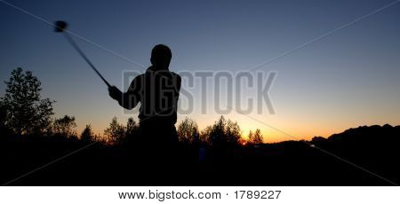 Golf In The Sunset