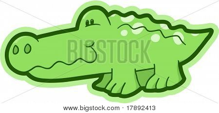 Safari Crocodile Vector Illustration