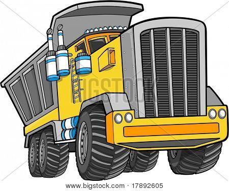 Vector Illustration of a Dump Truck