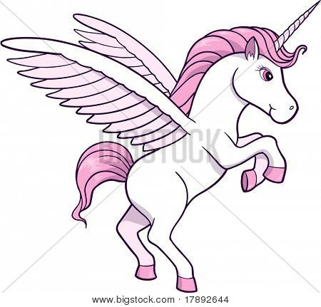 Vector Illustration of Unicorn