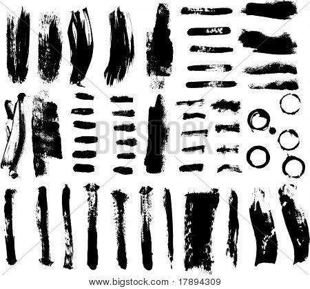 Pinselstriche und Tinte und Farbe spritzt-Vektor-illustration