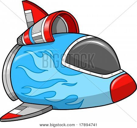 Spaceship Vector Illustration
