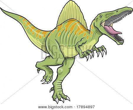Spinosaurus Dinosaur Vector Illustration