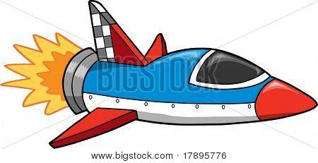 Rocket ship Vector Illustration