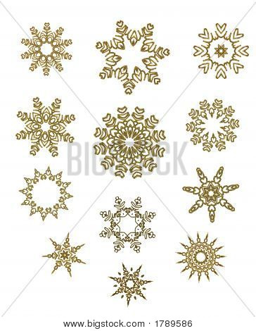 Schneeflocke-Design-Kollektion In Gold