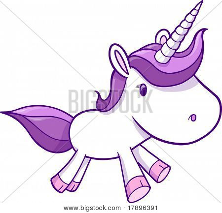 Purple Pink Unicorn Vector