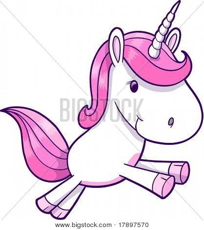 Pink Unicorn Vector