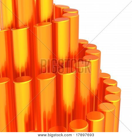Abstract orange futuristic background
