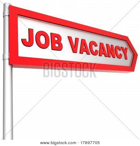 Job vacancy ahead road sign