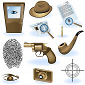 picture of private detective  - A collection of different private detective icons - JPG