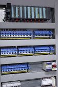 picture of plc  - Electrical automation and control equipment in industrial process - JPG