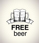 foto of beer mug  - free beer sign - JPG