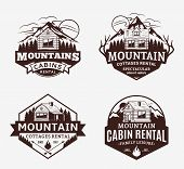 Mountain Recreation And Cabin Rentals Logo poster