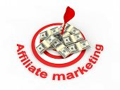image of marketing strategy  - Image of  Affiliate marketing concept in 3d - JPG