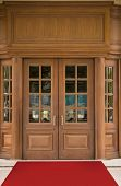 Elegant hotel oak door