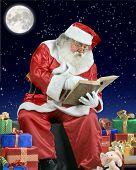 picture of santa-claus  - A real Santa Claus portrait taken at the South Pole - JPG