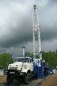 stock photo of oil drilling rig  - Mobile drilling rig - JPG