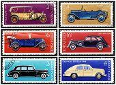 Постер, плакат: Марки: старинные русские автомобили установите