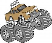 foto of monster-truck  - Monster Truck Vector Illustration - JPG