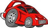 Постер, плакат: Горячий стержень гонки автомобилей векторные иллюстрации