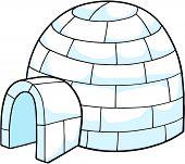 stock photo of igloo  -  White Snow Igloo Vector Illustration - JPG