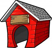 stock photo of dog-house  - Dog House Vector Illustration - JPG