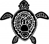 Tribal Tattoo Turtle Vector Illustration