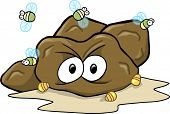 stock photo of turds  - Hard Poop Turd Vector Illustration - JPG