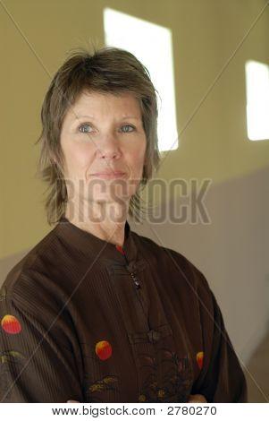 Senior Woman Interior Portrait