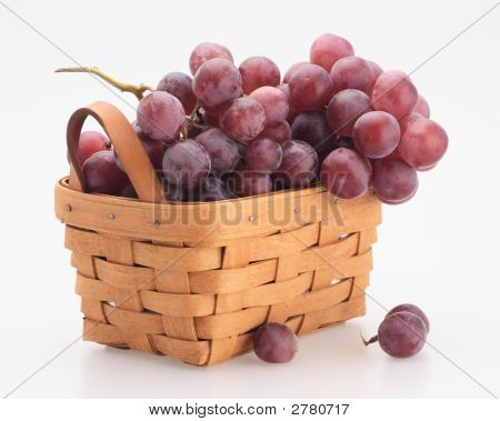 Red Grape In The Basket