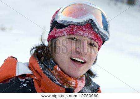 A Health Lifestyle Image Of Young Snowboarder After Incidence