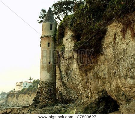 The remains of the Victoria Beach Light House tower circa 1920. 
