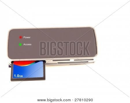 Digital card reader with 1 GB compact flase card