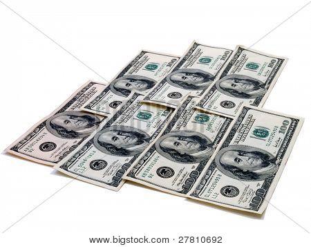 A mat of $100.00 bills