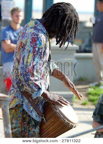 Straße durchführen Schlagzeuger