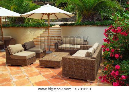 Patio Of A Villa