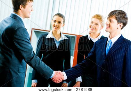 Handshake At Meeting