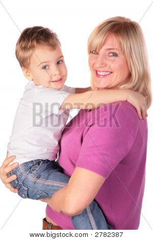 Woman With Kid Posing