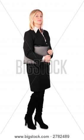 Middleaged Businesswoman With Black Folder 2