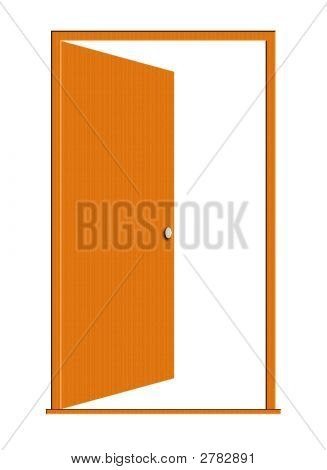 Opened Wood Door