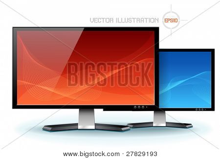 Computer Flat LCD Plasma Display Monitor vector