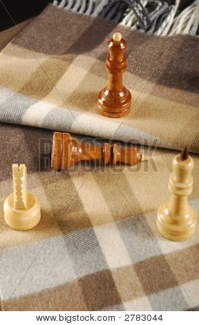 Chess And Woolen Scarf