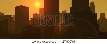 Stadt Sunset