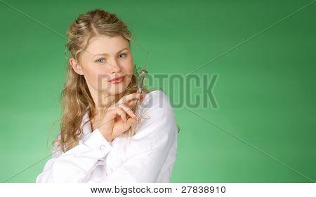 beautiful female & medicine - inoculation