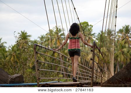Young girl enjoying nature