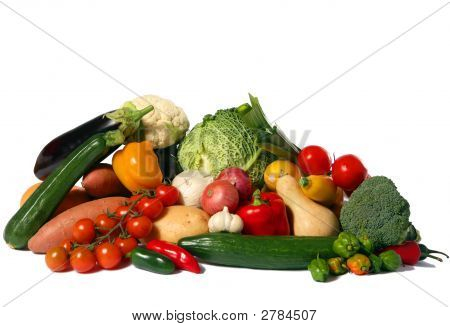 Vegetable Harvest Isolated