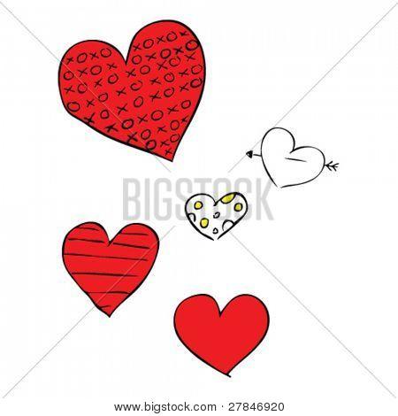peculiar dibujo de corazones de San Valentín