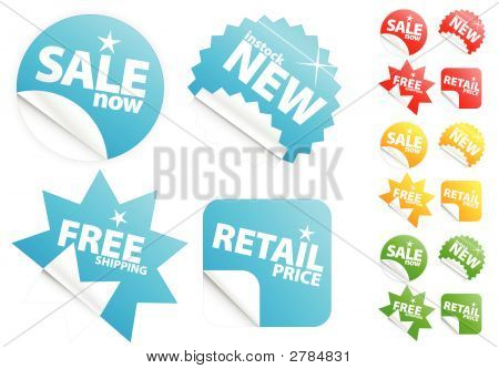 Glossy Modern Stickers On Sale/Retail Theme