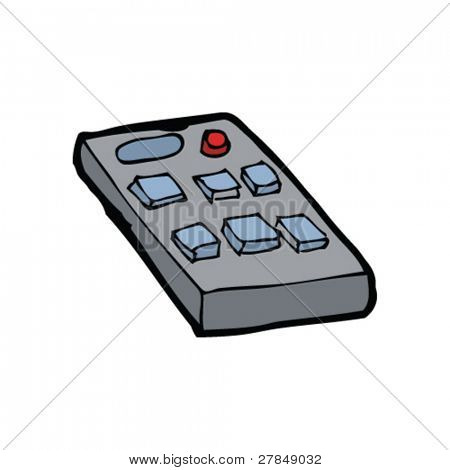 quirky drawing of a remote control