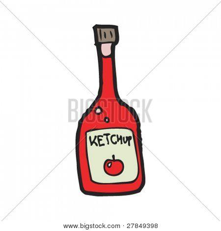 schrulligen Zeichnung Ketchup